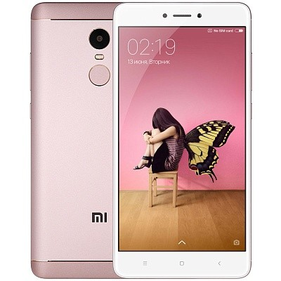 Смартфон Xiaomi Redmi Note 4X 64Gb Pink (Розовый)